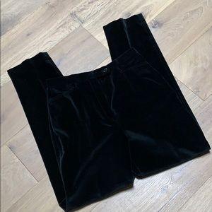 Pendleton black velvet cigarette pants